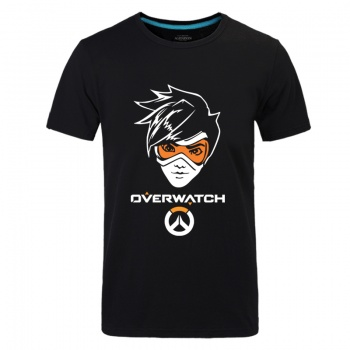 Cool Overwatch Tracer Unisex Black Tshirts