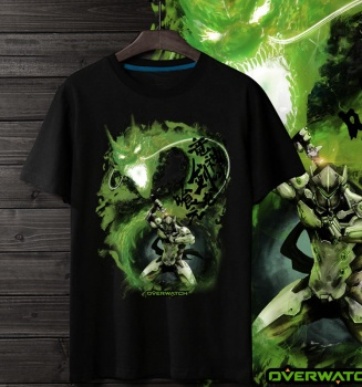 Overwacht Genji Hero Black Tees