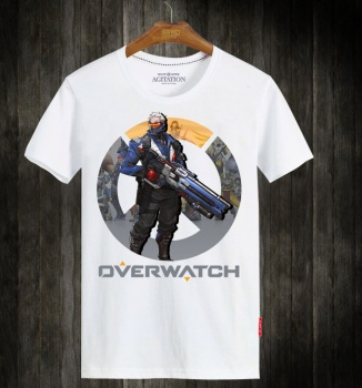 Overwatch Blizzard Soldier 76 White Tshirts