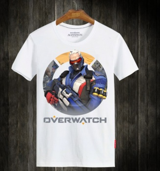Blizzard Overwatch Soldier Hero T-shirts