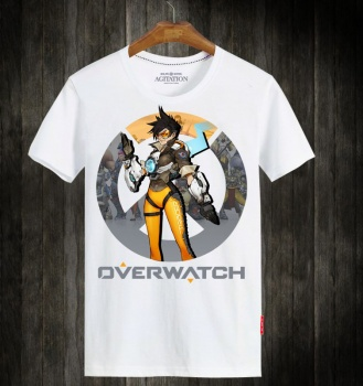 Overwatch OW Tracer Hero Tee Shirts For Mens