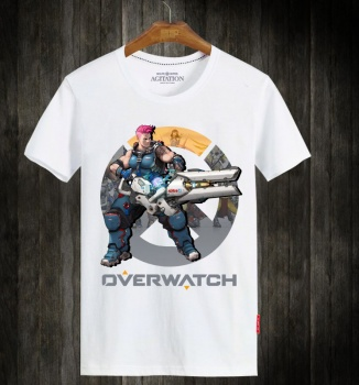 Blizzard Overwatch Zarya Mens White Tshirt