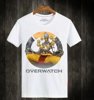 Overwatch Zenyatta White Short Sleeve T-Shirts