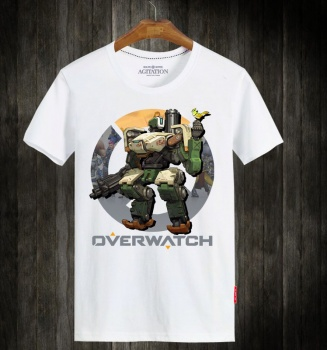 Overwatch Bastion Hero White Tee Shirts
