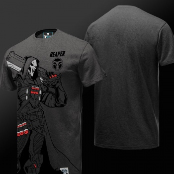 OW Overwatch Reaper Tshirt Gray 3XL Tees For Young Mens