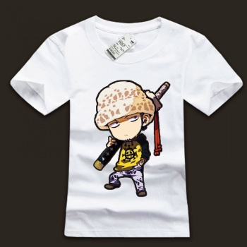 One Piece Luffy White T-shirts For Boys