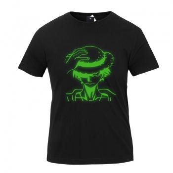 One Piece Monkey D. Luffy Luminous T shirts for Men