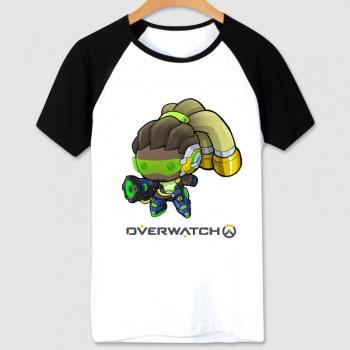 Blizzard Overwatch Hero Tee Black Short Sleeve OW lucio T-shirt