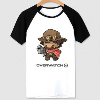 Blizzard Overwatch Hero T-shirt Cartoon Mccree Tee For Couple