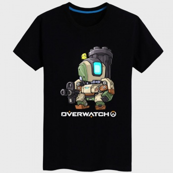 Black Overwatch Bastion T-shirts For Mens Womens