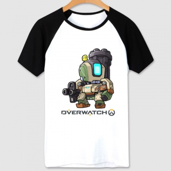 Blizzard Overwatch Game T-shirt Black Bastion Shirts