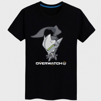 Overwatch OW Genji T-shirt Black Blizzard Game Tees For Couples