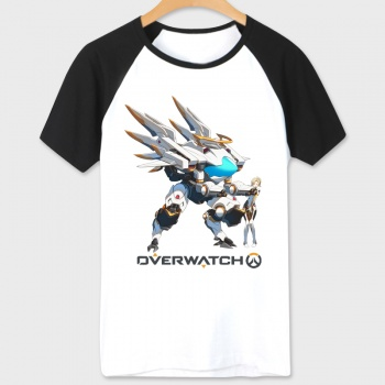 Over Watch Hero D.Va T-shirts White Cotton Tees