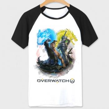 Overwatch Genji Hero T Shirts white Tee For Mens