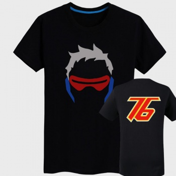 Overwatch Soldier 76 Shirts Mens black T-shirt