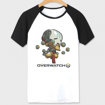 Overwatch Game Zenyatta Tshirts Woman white Tee