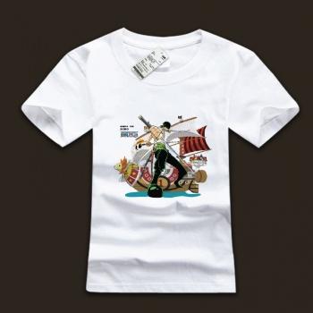 White One Piece Roronoa Zoro T Shirts With Plus Size