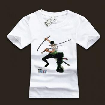 100% Cotton One Piece Roronoa Zoro Tee Shirts For Men