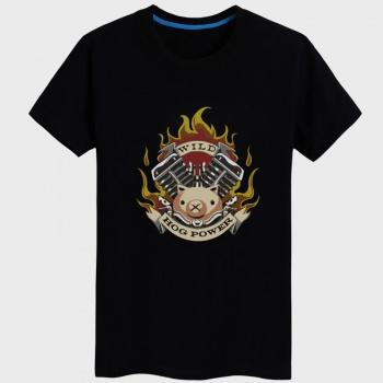 Roadhog Cartoon Design T-shirt black Tees For Women