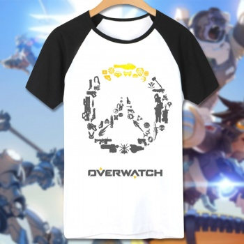 Overwatch Game Logo Tee Shirt Man white T-shirts