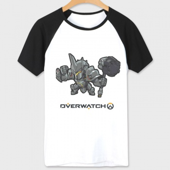 Over Watch Game Reinhardt Hero Tees Unisex white T-shirts