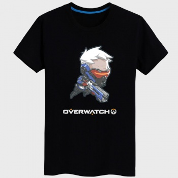 OW Soldier 76 T-shirt black Tees For Mens