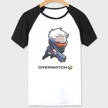 OW Game Soldier 76 T shirt white Shirts Mens