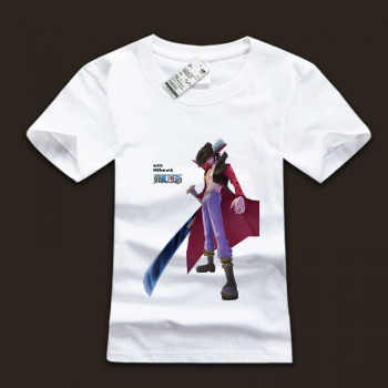 Cool One Piece Mihark Character White Cotton T-shirts
