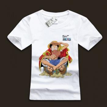 Monkey Luffy White Mens T-shirts For Man