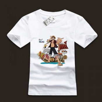 Ink Printed Monkey D. Luffy T-shirts for Mens
