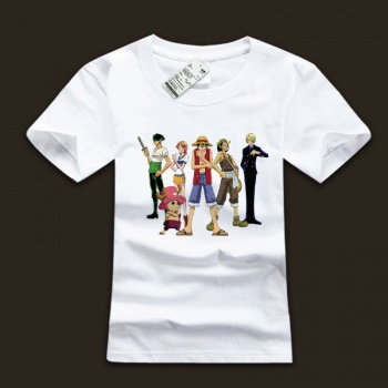 White One Piece Straw Hat Pirates T Shirts With Plus Size