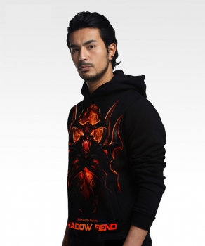 Spring New Shadow Fiend Themed Hoodies Fashion Long Sleeve Coat Black