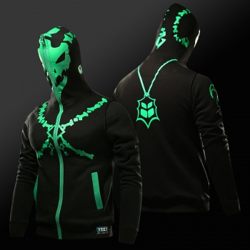 LOL Thresh Chain Warden Sweatshirt Black Full Face Cosplay Hoodie For Boy