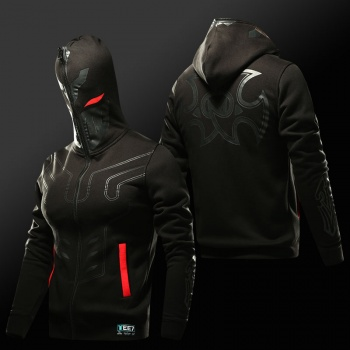 LOL Zed Master of Shadows Hoodies Black Full Face Cosplay Sweatshirt For Young