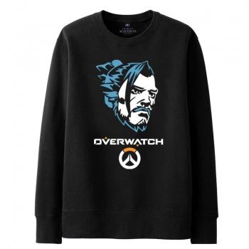 Blizzard Overwatch Hanzo con capucha para hombre negro sudadera