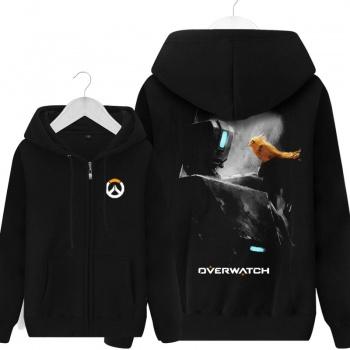 Overwatch juego Bastion con capucha para hombres negro con capucha