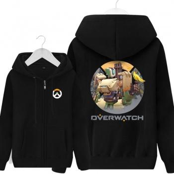Overwatch Blizzard Bastion Sweat Shirts Mens black Hoodie