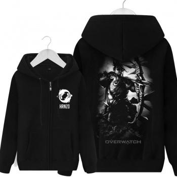 Overwatch Mens de un suéter negro con capucha
