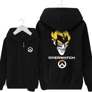 Overwatch Blizzard Junkrat Sweat Shirts Mens Black Hoodie