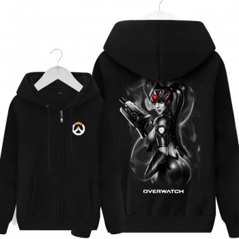 Blizzard Overwatch Widowmaker sudadera con capucha para hombre negro sudadera