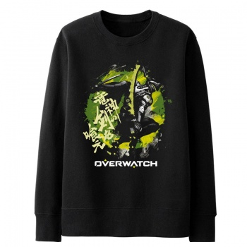 Overwatch Genji Hoodie For Boys Blizzard Game Gray Sweater