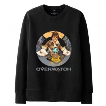 Overwatch Tracer Sweatshirt Mens black Hoodie