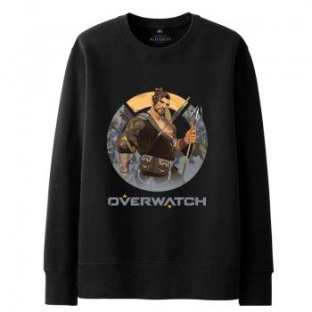 Blizzard Overwatch Hanzo Hoodie For Mens black Sweatshirt