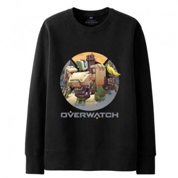 Overwatch Bastion Sweatshirt Men black Hoodies
