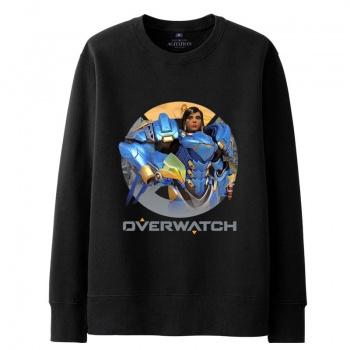Overwatch Pharah Hooded Sweatshirts Men black Hoodie