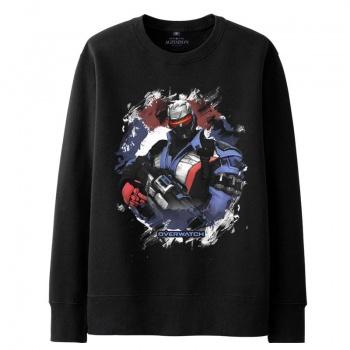 Blizzard Overwatch Soldier 76 Sweatshirt Men black Hoodies