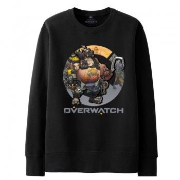 Overwatch Mccree hombres de sudadera negra con capucha