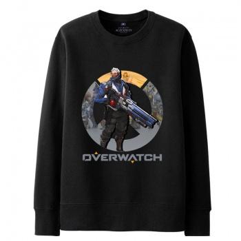 Overwatch Blizzard Reaper sudar camisas para hombre negro con capucha