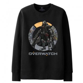 Overwatch misericordia de hombres sudaderas con capucha negra con capucha