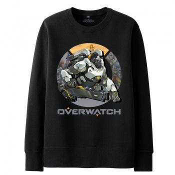 Overwatch Cs Mei con capucha hombres negro sudaderas con capucha